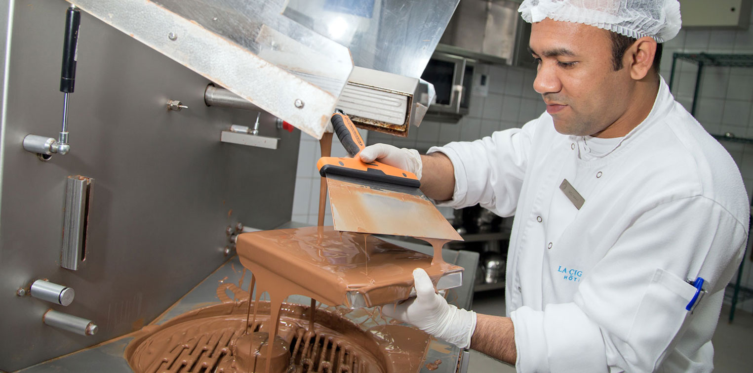 Homemade Chocolate Making - La Cigale Hotel